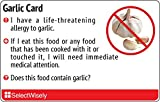 Garlic Allergy Translation Card - Translated in Spanish or any of 15 languages
