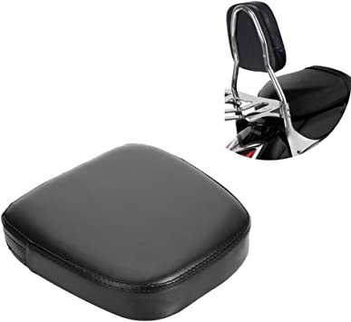 ECLEAR Passenger Rider Backrest Motorcycle Cushion Pad for Harley Chopper Universal