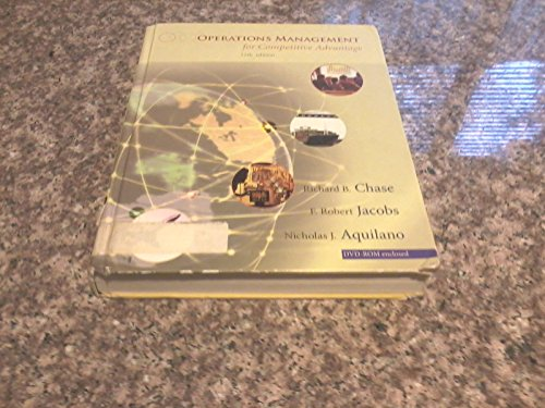 Operations Management for Competitive Advantage - Text Only 11TH EDITION