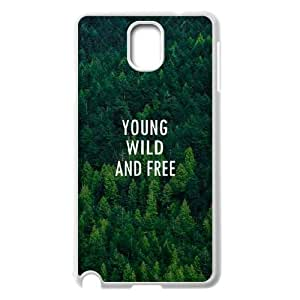 wugdiy DIY Case Cover for Samsung Galaxy Note 3 N9000 with Customized Young, wild & free