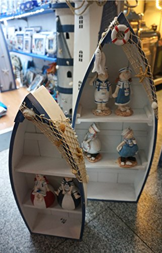 nautical themed boat shaped set of 2 display shelves, shabby chic, Beautiful nautical themed decor 25 inch high boat (Small Shelves Boat Shaped)