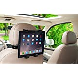 Okra 360 Degree Adjustable Rotating Headrest Car Seat Mount Holder For iPad, Samsung Galaxy,Motorola Xoom, And all Tablets Up To -10.1""