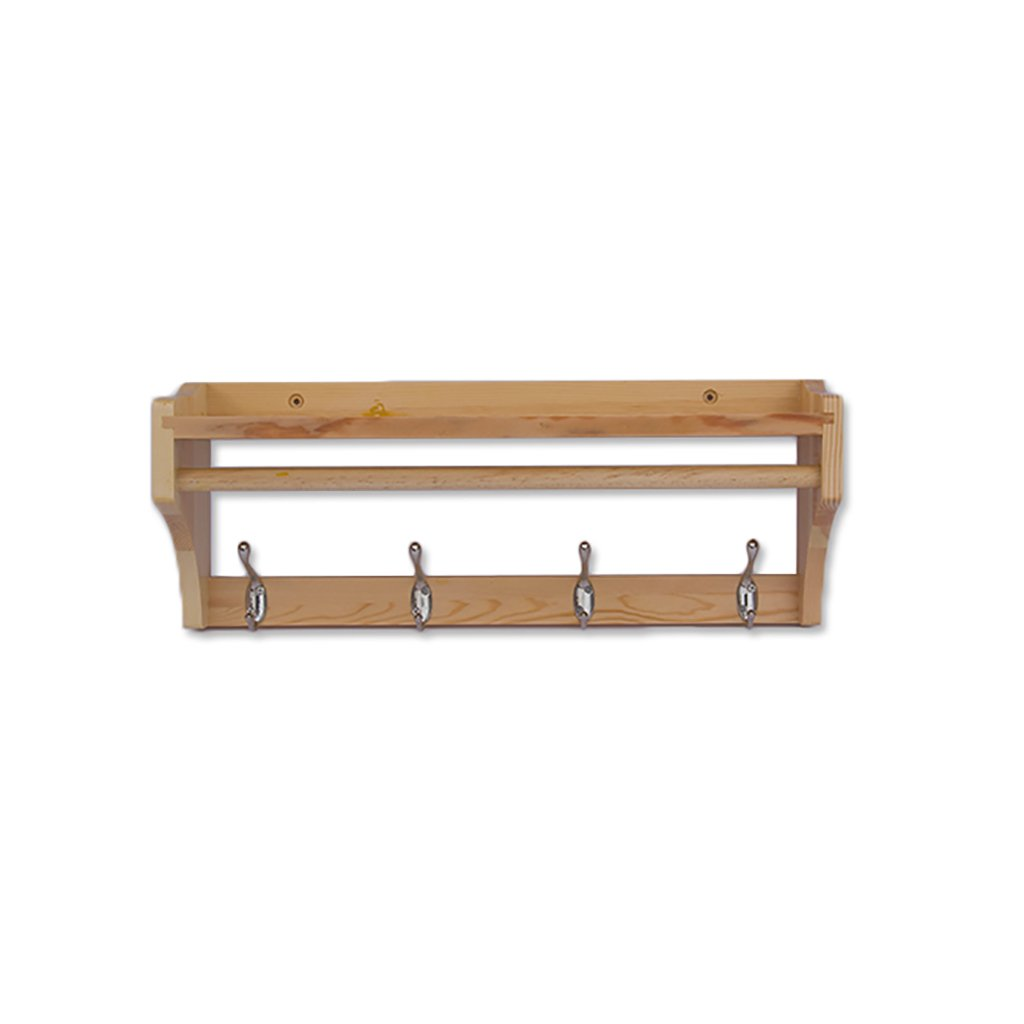 LOFTfan Perchero de Ropa Soporte de Pared Soporte de Suspension Holder,Pared Abrigo y Perchero Rail toallero de baño bambú Perchero Metal (Tamaño : C79.5 * 15 * 20cm)