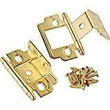 Polished Brass, Ball Tip, Partial Wrap-Around Hinge