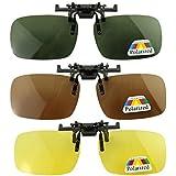 3x Polarizador lente Conveniente clip En la vision nocturna de la de cristal Sunglass Vidrio