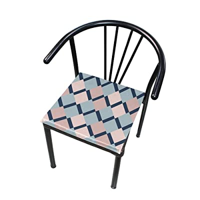 "Bardic HNTGHX Outdoor/Indoor Chair Cushion Abstract Geometrical Square Memory Foam Seat Pads Cushion for Patio Dining, 16"" x 16"": Home & Kitchen"