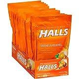 HALLS Cough Drops, (Tropical Fruit, 30 Drops, 12-Pack)