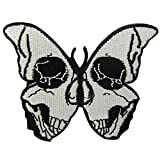 The Skull Butterfly Patch Embroidered Badge Iron On Sew On Embelm
