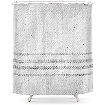 Society6 VINTAGE FARMHOUSE GRAIN SACK Shower Curtain 71 By