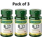 Natures Bounty Vitamin B-12, Quick Dissolve, 2500 mcg, Natural Cherry Flavor 75 ct (3 Pack)