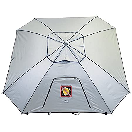 Extreme Shade Total Sun Block Beach Umbrella Shelter w Window and Anchor
