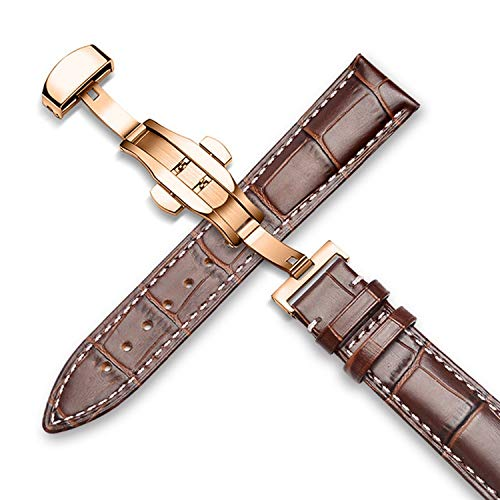 Genuine Leather Watch Bands Top Calf Grain Strap Bracelets Butterfly Deployant Clasp 18mm 20mm 22mm for Men Women Desallusa-Bands-202357 8 Mm Wheat Braid