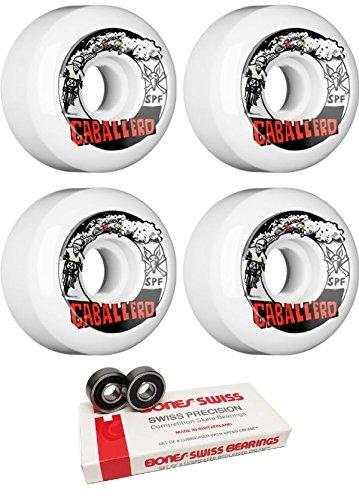 サロンスローどうやってBones Wheels 54 mm x Blender Moto SPFスケートボードWheels with Bones Bearings – 8 mm Bones Swiss Skateboard Bearings – 2アイテムのバンドル