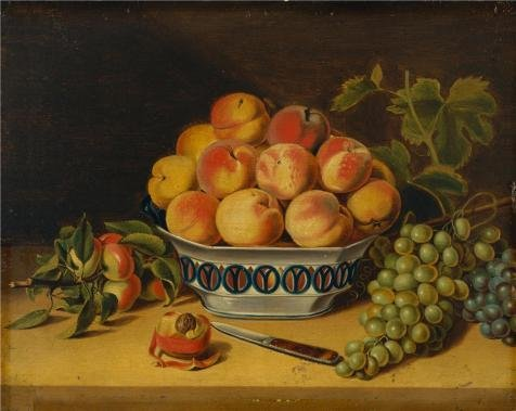 [Perfect Effect Canvas ,the Vivid Art Decorative Prints On Canvas Of Oil Painting 'John A.Woodside-Still Life,Peaches And Grapes,1825', 24x30 Inch / 61x77 Cm Is Best For Kitchen Gallery Art And Home Gallery Art And Gifts] (Dada Life Costumes)