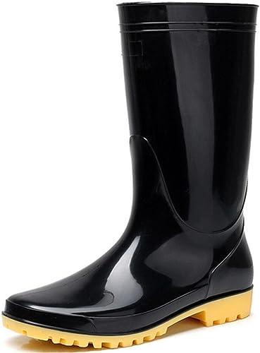 Adult Mens Antiskid Rubber Sole Waterproof Work Shoes Non-Slip Wear Resistant Rain Boots
