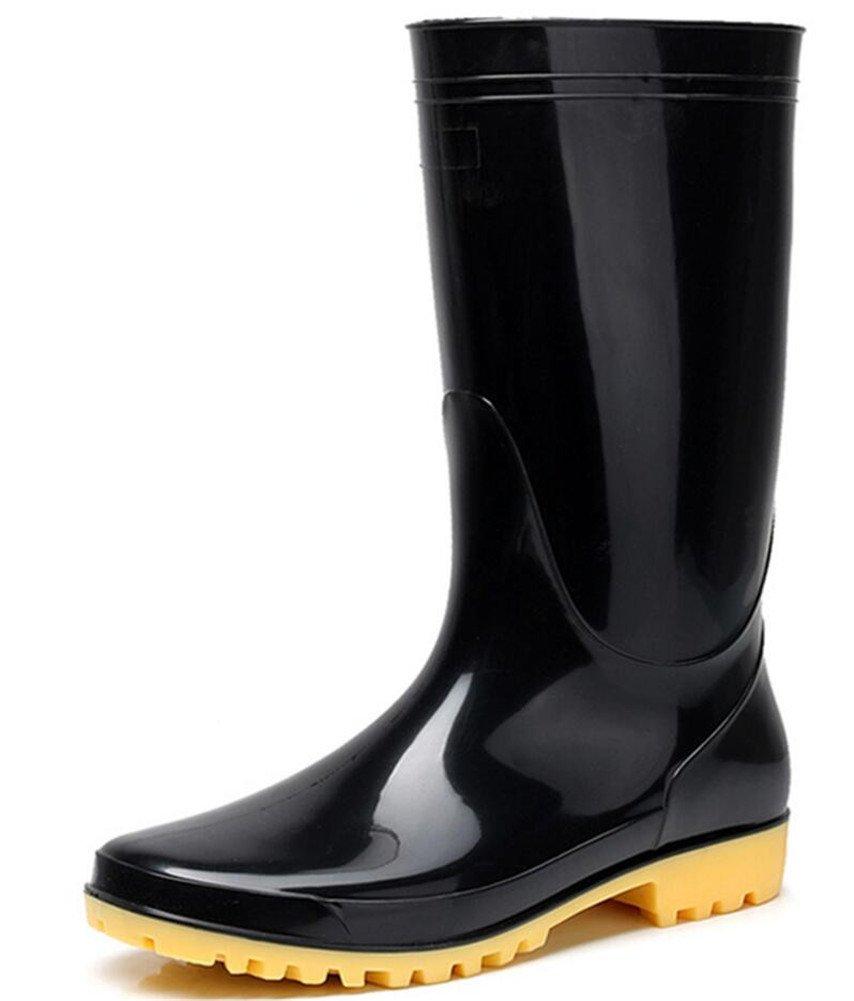 Adult Men's Antiskid Waterproof Rubber Sole Work Shoes Rain Boots (11)