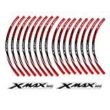 PRO-KODASKIN XMAX 300 motorcycle wheel decals 12rim stickers set for XMAX 300