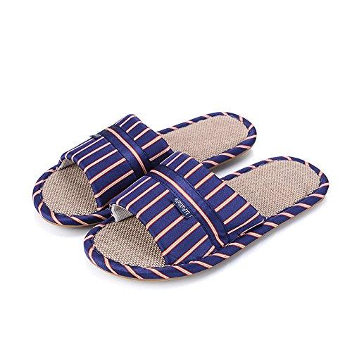 Black 43 41 Intérieur Pantoufle Tissu Slipper Gros en Femme Tendon Antidérapant Nouveau Slip Maison XING Bow 44 42 Pantoufle Couple GUANG Blue Lin XUxMTwZqg1