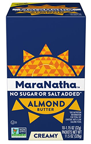 Maranatha No Stir No Sugar or Salt Added Almond Butter Packets, 1.15 Ounce (10 Count) by Maranatha Nut Butters
