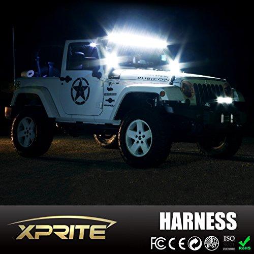Xprite 2 Leg Off Road ATV/Jeep LED Light Bar Wiring Harness ... on