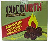 Hookah Natural Coconut Charcoal 120 Pieces HEXAGONS Coco Urth 2 Kilo Shisha Coal