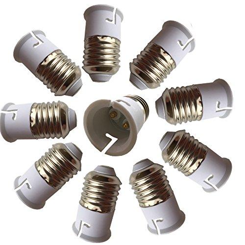 - DZYDZR 10 pcs Bulb Holder E27 to B22 Adapter Converter - E26 Light Socket to B22 Light Bulb Base Socket, Fits LED/CFL Light Bulbs, Heat-resistant, Anti-burning, No Fire Hazard