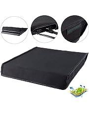 eXtremeRate Funda contra el Polvo Cubierta Protectora Horizontal Diseño de Doble Capa Forro a Prueba de Polvo Corte preciso para Puerto de Cable de fácil Acceso para la Consola de PS4 Slim Negro