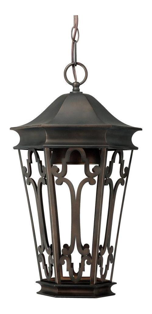 Old Bronze Townsende 1 Light Outdoor Full Sized Lantern Pendant