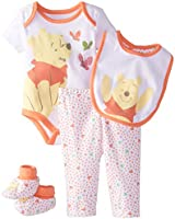 Disney Baby Girls'  Winnie The Pooh Girls 4 Piece Set