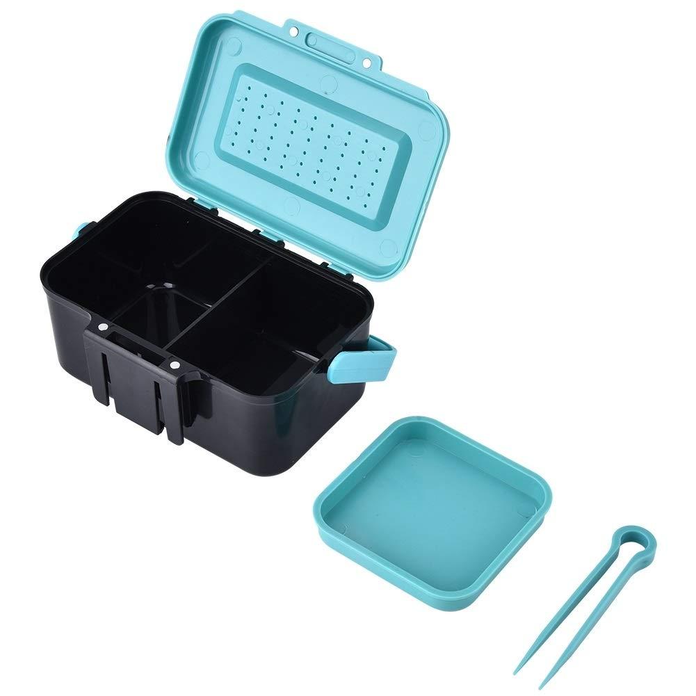 NIMOA Fishing Box K/öder lebendig Locken Aufbewahrungskoffer Wurmangeln mit Zwischenschichtpinzette