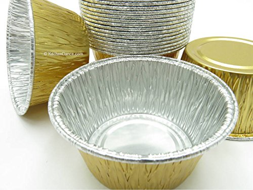 Disposable Aluminum Gold 4 oz. Baking Cups/ramekins #1110NL (2500) by AGIANT (Image #1)