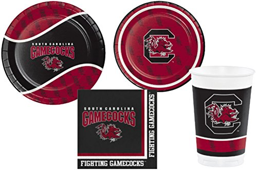 South Carolina Gamecocks Party Supply Pack! Bundle Includes Plates Napkins & Cups for 8 Guests