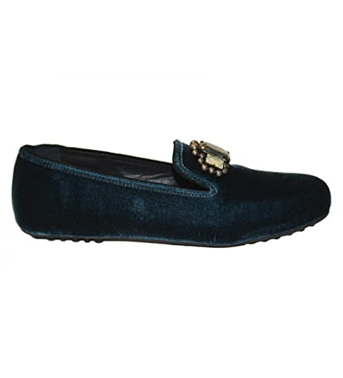Car Shoe - Mocasines de terciopelo para mujer azul azul, color azul, talla 6 UK: Amazon.es: Zapatos y complementos