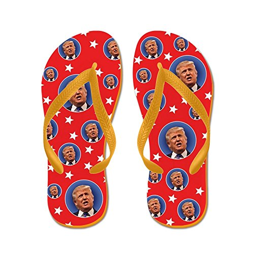 Vestire I Molti Volti Di Donald Trump - Infradito, Divertenti Sandali Infradito, Sandali Da Spiaggia Arancione