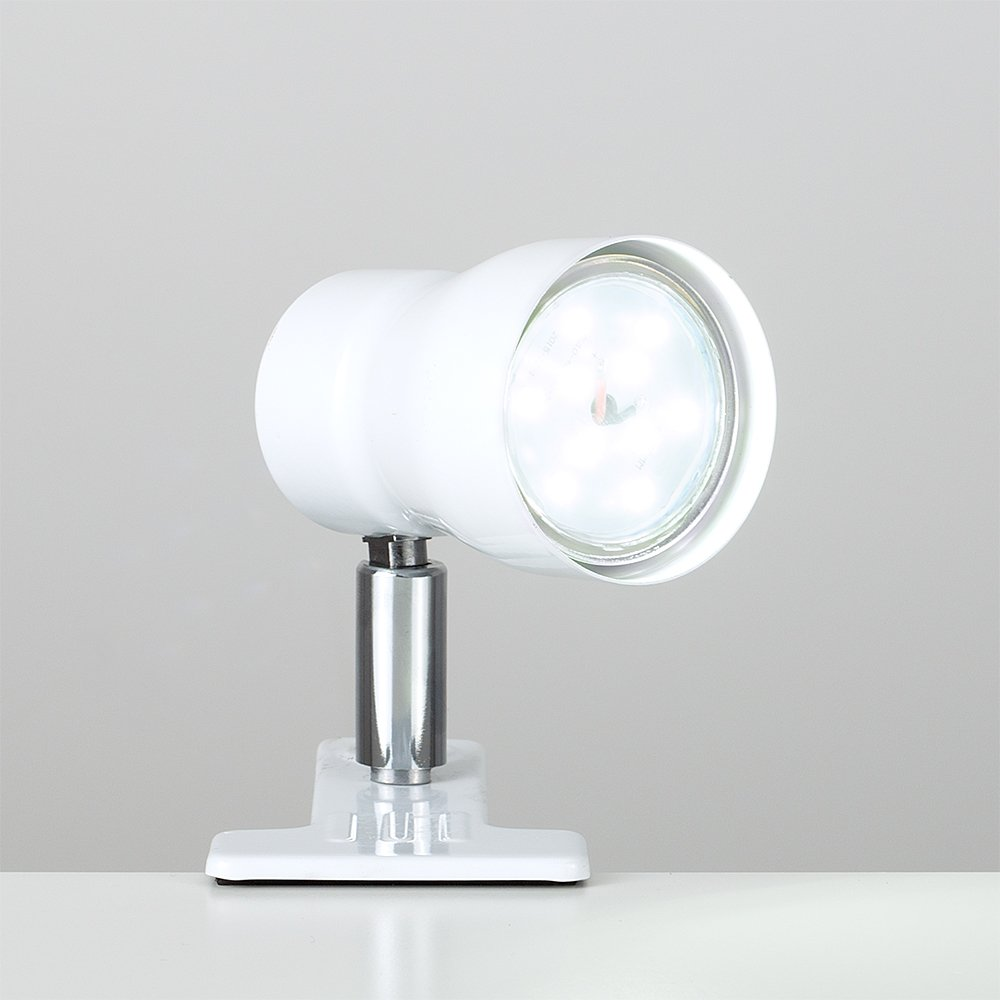 MiniSun Daylight LED Clamp On Desk Lamp Spotlight in a Gloss White Finish