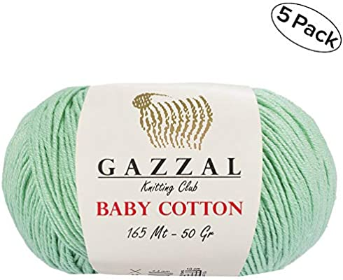 gazzal bebé algodón 1.76 oz (50g)/246 yrds (225 m) suave, Super ...