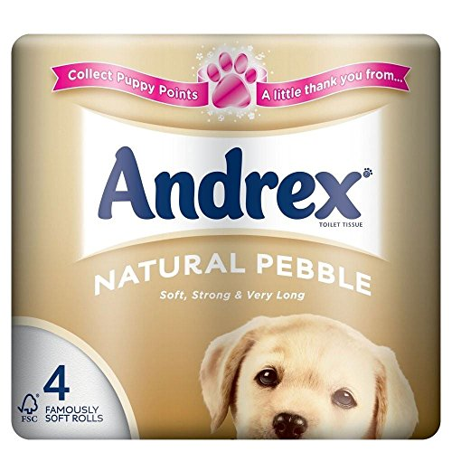 Andrex Natural Pebble Toilet Tissue Rolls - 240 Sheets per Roll (4)