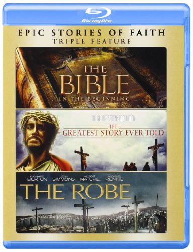 Blu-ray : The Bible / The Greatest Story Ever Told / The Robe (Boxed Set, Widescreen, 3 Disc)