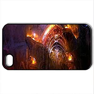 Enter if you dare - Case Cover for iPhone 4 and 4s (Watercolor style, Black) by icecream design