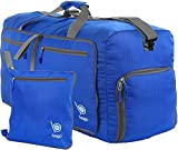 bago Travel Duffle Bag For Women & Men - Foldable Duffel Bag For Luggage Gym Sports (Medium 23'', DeepBlue)