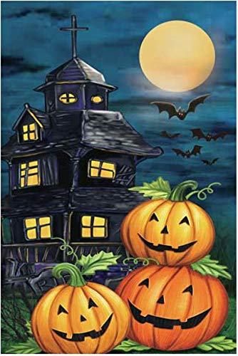 GiftWrap Etc. Haunted House Halloween Garden Flag - 12