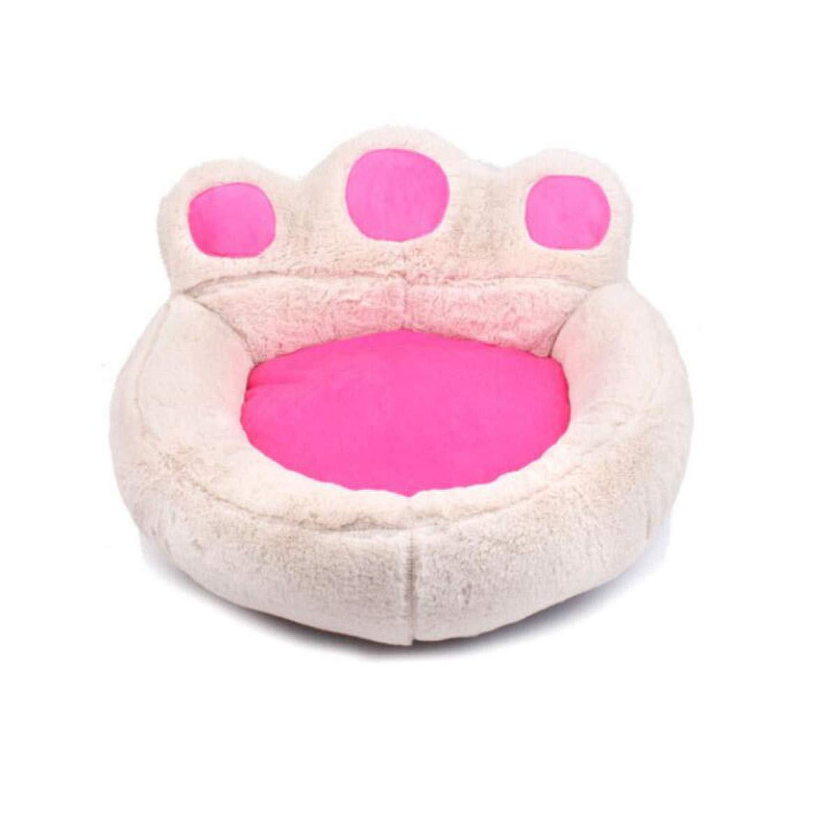 Beige single+pillow blanket STongboshi Suede Pet Bed, Fully Removable And Washable, Four Seasons Universal, Small And Mediumsized Dog, Dog Bed Sofa, Warmth, Teddy, Bichon VIP Thickened Cat Mattress, Pink Single Nest + Pillow Bla