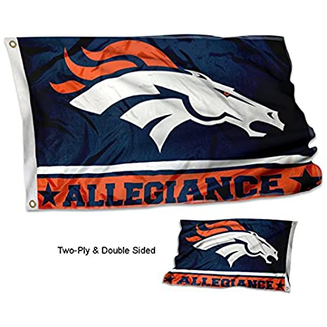 Image Unavailable. Image not available for. Color  WinCraft Denver Broncos  Double Sided Allegiance Flag e87e6eb96