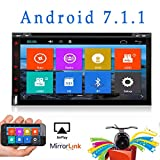 Best Wifi Model Android 6.0 Quad-Core 6.95' Full touch-screen Universal Car DVD CD player GPS 2 din Stereo GPS Navigation free camera