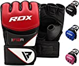 RDX MMA Gloves Grappling Martial Arts Sparring Punching Bag Cage Fighting Maya Hide Leather Mitts UFC Combat Training