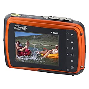 "Coleman Xtreme 18.0 MP HD Underwater Digital & Video Camera (Waterproof to 10 ft.), 2.5"", Orange (C20WP-O)"
