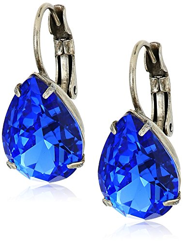 Sorrelli Ultramarine Pear Cut Crystal Drop Earrings