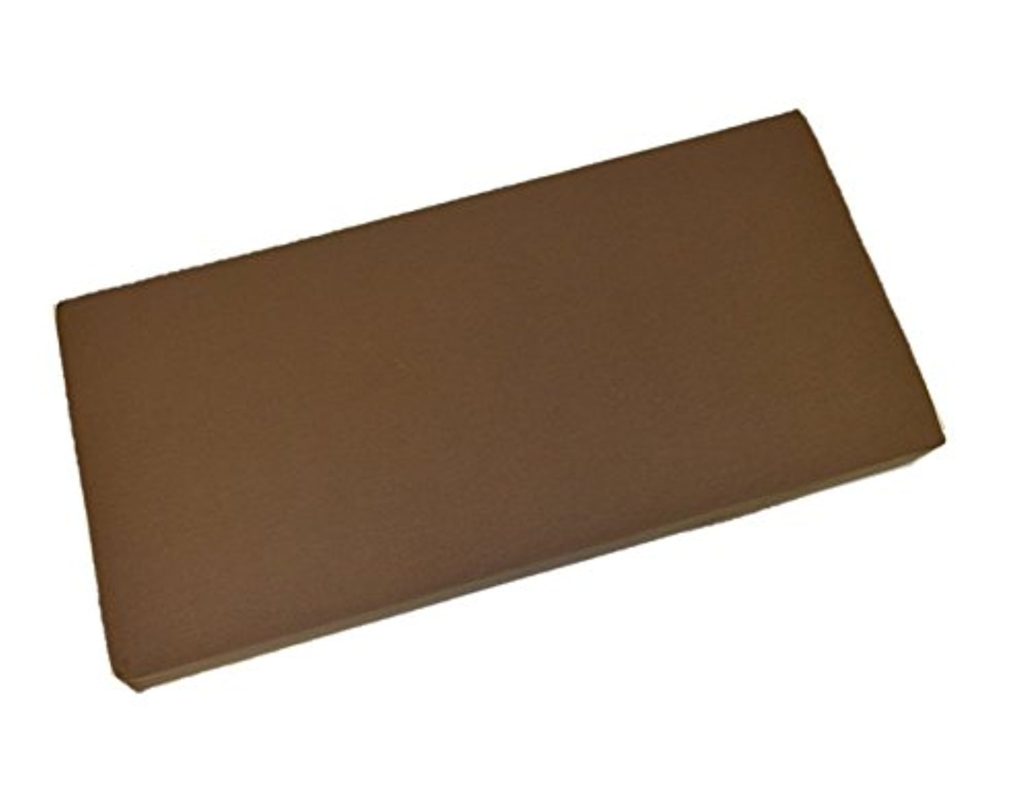 Solid Chocolate Brown 3'' Thick Foam Swing/Bench/Glider Cushion with Ties and Zipper - Indoor/Outdoor Fabric - Choose Size