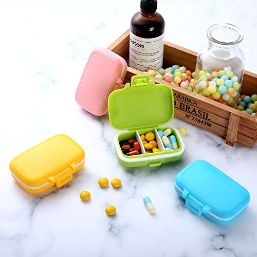 Jovitec Pill Cases 3 Removable Compartments Plastic Waterproof Pill Box Case Organizer Medicine Holder for Daily and Travel Use (8 Pieces) by Jovitec (Image #5)