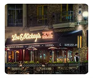 Decorative Mouse Pad Art Print Landscape and Plants Lou And Mickeys At The Gaslamp